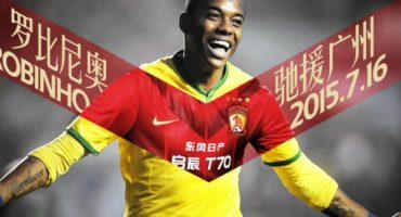 Robinho ya es jugador del Guangzhou, ¿y Gallos?