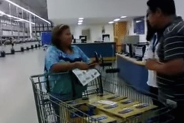 Video: Descubren a señora robando en un Sams