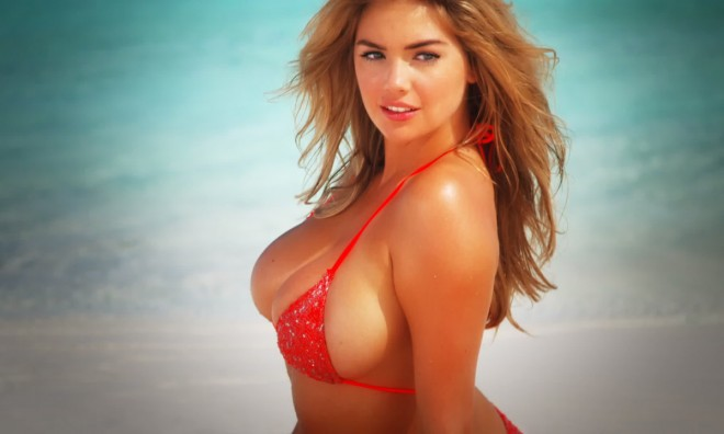 Kate Upton batea a su pitcher favorito