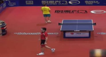 La verdadera pelea del siglo se llevó a cabo en este partido de ping-pong