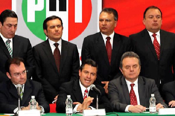 Así la seguridad: roban arma a escolta de EPN... en evento del PRI