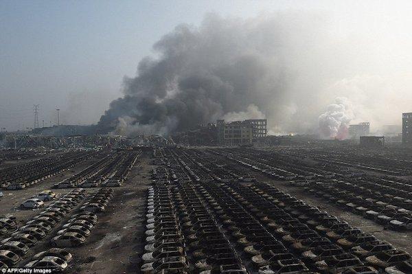 Así quedó Tianjin después de la mega explosión