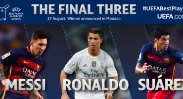 Messi, Ronaldo y Suárez competirán por ser el mejor jugador de Europa según la UEFA
