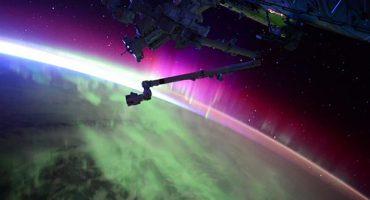 Y en la imagen del día: Así se ve una aurora boreal desde el espacio