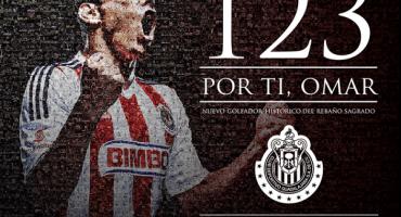 Omar Bravo ya es el máximo goleador en la historia de Chivas en solitario