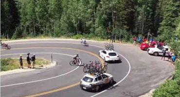 En el Tour de Utah hubo un doloroso accidente