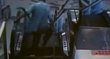 Y ahora, hombre pierde un pie en accidente de escalera eléctrica