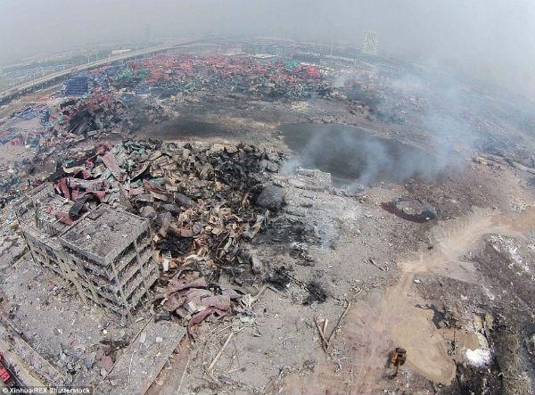 Toneladas de cianuro causaron la explosión en China