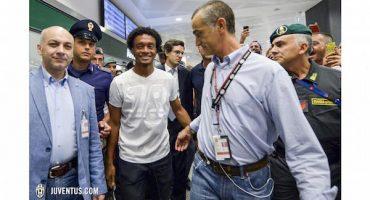 Juan Cuadrado ya está en Italia con la Juventus