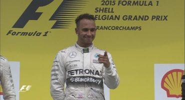 Hamilton gana el GP de Bélgica; Checo, con un carrerón, termina 5to