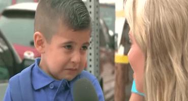 #EpicFail Reportera hace llorar a niño en su primer día de clases