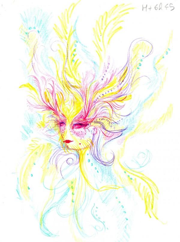 Los autorretratos de una artista bajo la influencia del LSD