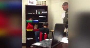 En Estados Unidos, policía maltrata a niño de 8 años con trastorno de atención