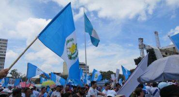 Guatemala unido contra la corrupción de su presidente