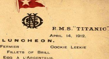 Subastarán el menú del último almuerzo servido en el Titanic