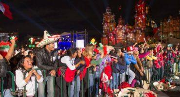 Llevan acarreados desde el Edo de México para el grito en el Zócalo