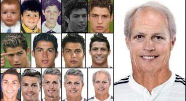 Galería: Así sería el envejecimiento de Cristiano Ronaldo