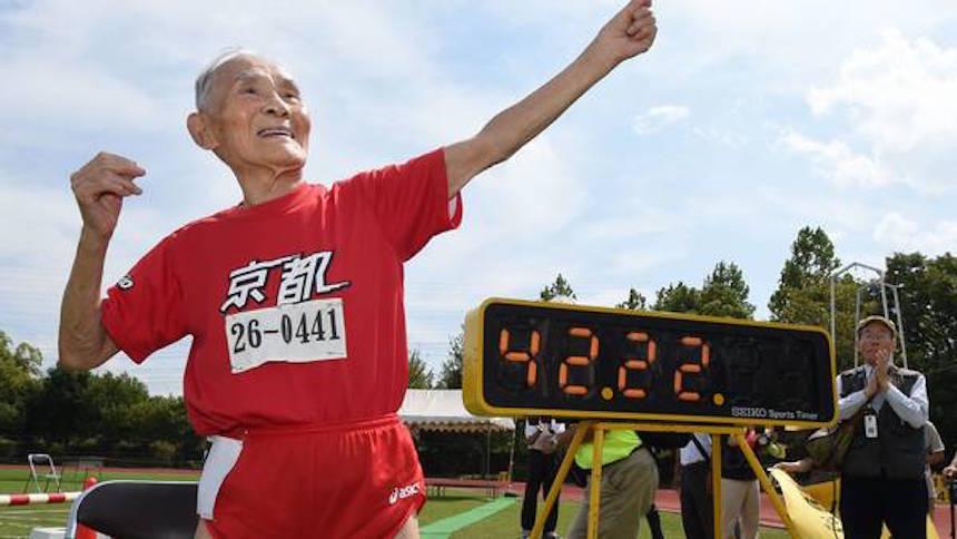 Hidekichi Miyazaki rompió récord en los 100m... ¡a los 105 años!