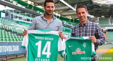 El histórico Claudio Pizarro regresa a casa; Ficha con el Werder Bremen hasta 2016