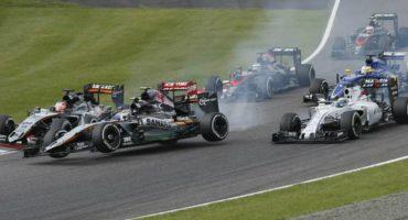 Checo corta su racha sumando y Hamilton se lleva el GP de Japón