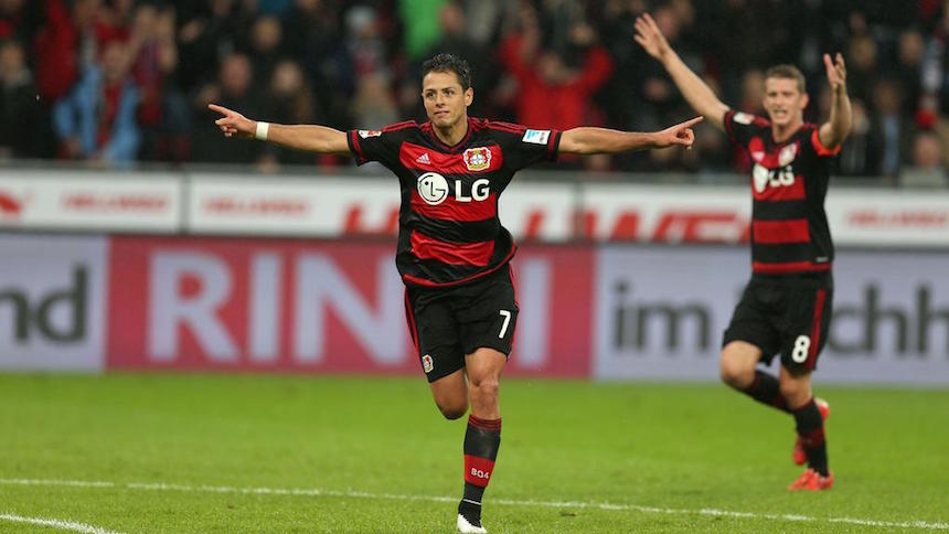 Chicharito Hernández vuelve a anotar con el Bayer Leverkusen en el partido ante Wolfsburg