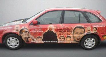 Si eres fan del Manchester United, este auto es para ti