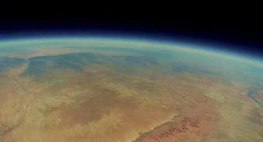 Las increíbles imágenes de una GoPro perdida en el espacio