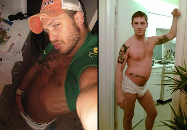 Tom Hardy orgulloso de sus fotos de MySpace