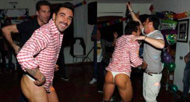 Filtran fotos de Ezequiel Lavezzi en tanga