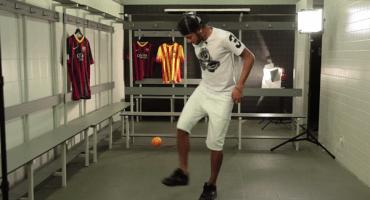 Neymar es tan crack que puede hacer trucos con una naranja