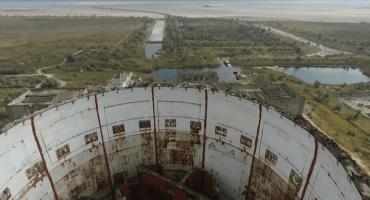 Drone capta video de planta nuclear abandonada