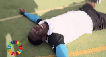 De lujo: Así le fue a Usain Bolt en el reto del 'Penalti Mareado'
