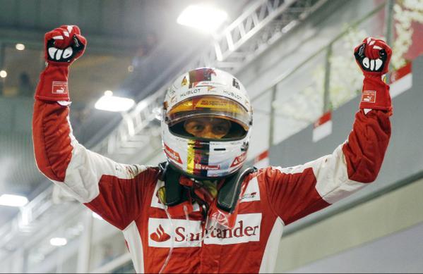 Vettel y un espontáneo le ponen sabor al Gran Premio de Singapur