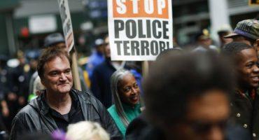Tarantino marcha contra la violencia policial en EU y policías piden boicotear sus películas