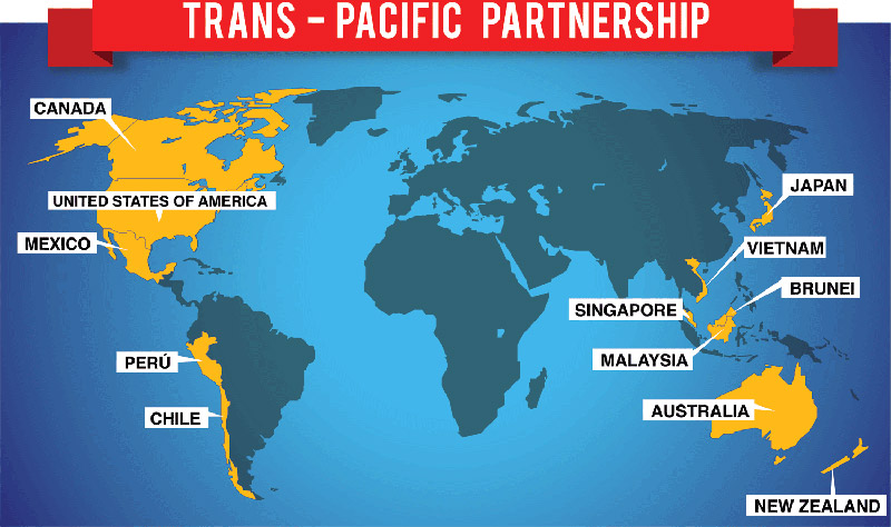 Reportan acuerdo para aprobar el Tratado Transpacífico #NoTPP