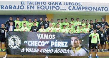 Así apoya el América a Checo Pérez rumbo al GP México