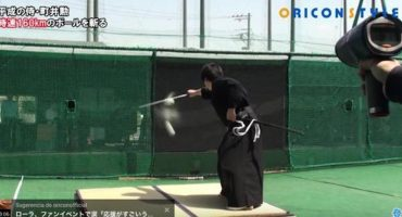 Este samurái destrozó una bola de beisbol a 160 km/h