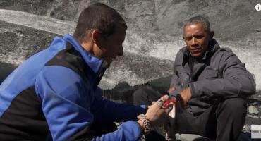 Obama vive una experiencia extrema en el programa de Bear Grylls