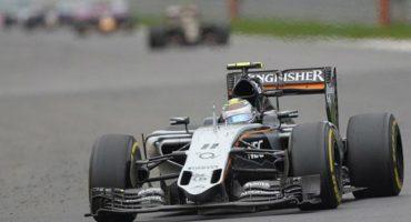 Checa las mejores imágenes del podio de Checo Pérez en el GP de Rusia