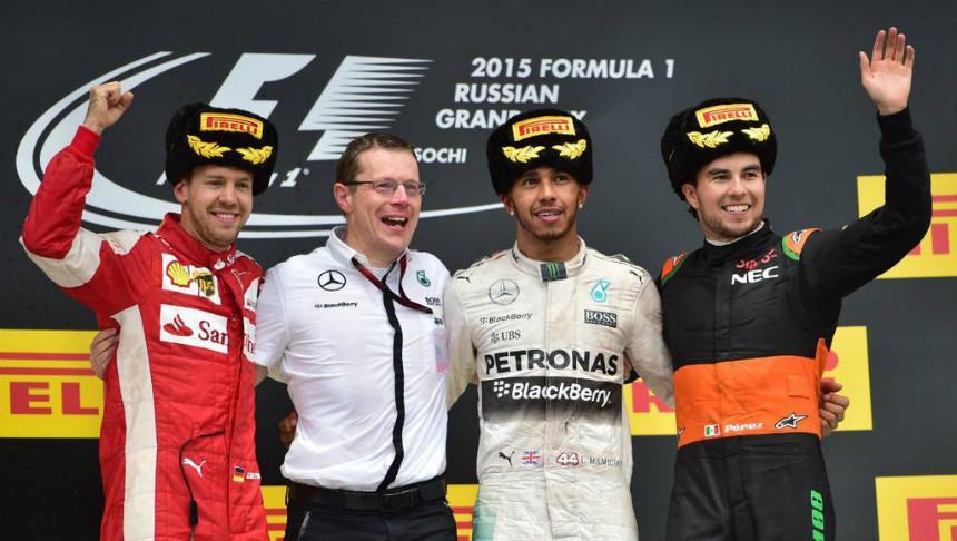 Así felicitaron a Checo Pérez en Twitter por su 3er lugar en el GP de Rusia