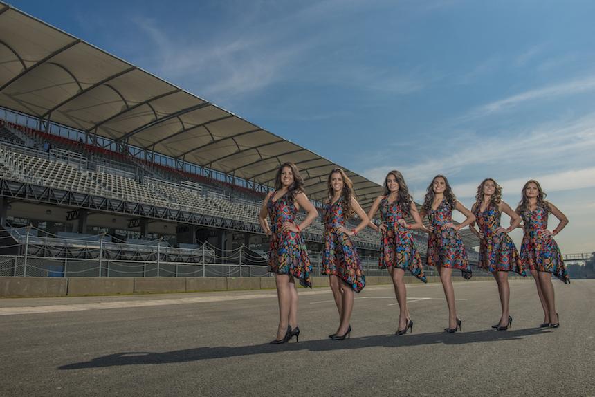 Así vestirán las Grid Girls del Gran Premio de México