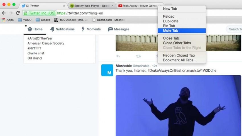Ya pueden silenciar las pestañas en Google Chrome