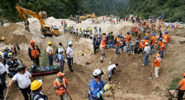 Sube a 186 el número de muertos por deslave en Guatemala