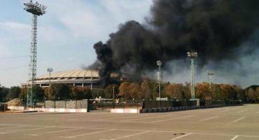Se incendió el estadio Luzhniki de la final de Rusia 2018