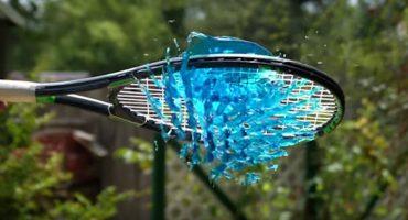 Gelatina y raquetas en slow motion, lo mejor del día