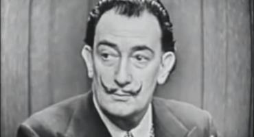 Salvador Dalí en una surreal aparición de tv en 1957
