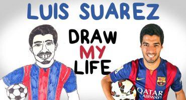 De Uruguay a Barcelona, la vida de Luis Suárez en Draw My Life