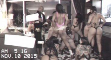 Mayweather y su fiesta personal de Twerking