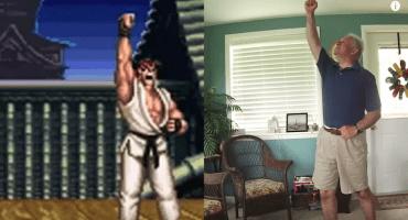 ¡Viejos los cerros! Anciano recrea los festejos de los personajes de Street Fighter