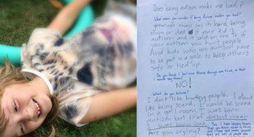 La carta de una niña autista que le ha dado la vuelta al mundo